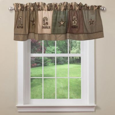 Alpha Bravo Charlie Window Valance