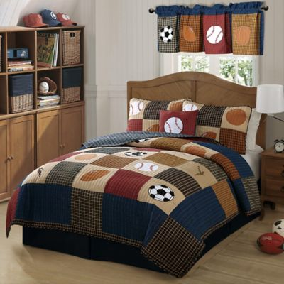 Classic Sports Twin Quilt Set