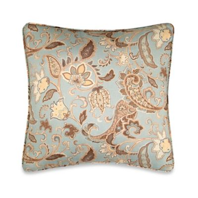B. Smith Aqua Square Pillow