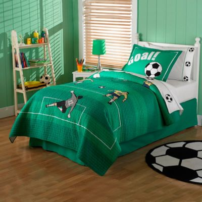 Soccer Twin Quilt Set