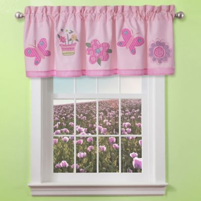 Pink Purple Window Valance