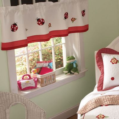 Lady Bug Yard Window Valance