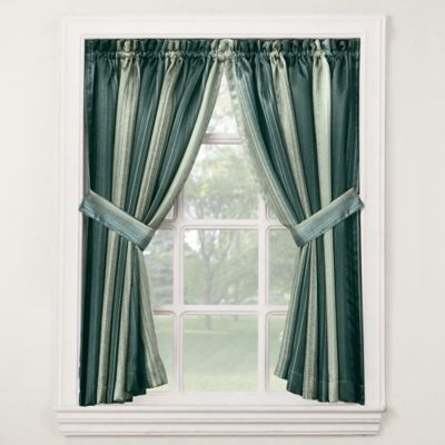 Stafford Bath Window Curtain Tier Pair in Pine
