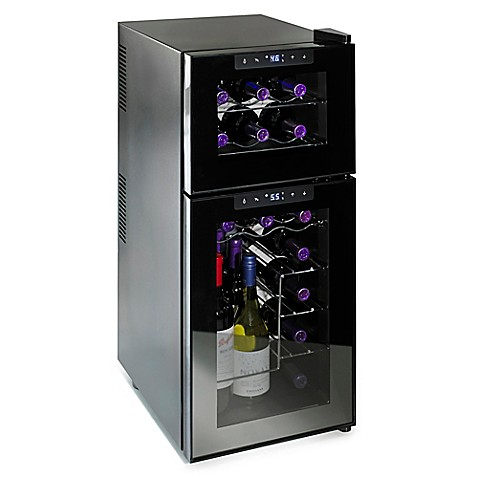 Wine Enthusiast Silent Touchscreen 21 Bottle Dual Zone
