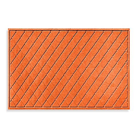 Buy weather guard 30 inch x 45 inch argyle door mat in orange from bed bath beyond - Orange kitchen floor mats ...