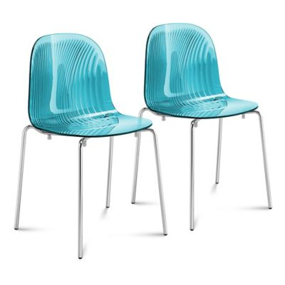 Domitalia Playa Dining Chair in Blue (Set of 2)