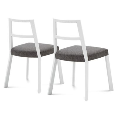Domitalia Torque Dining Chair in White (Set of 2)