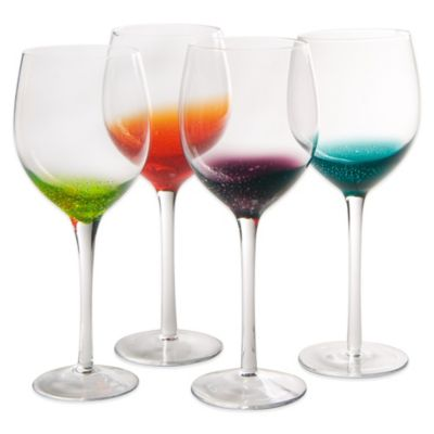 Artland® Fizzy Goblets in Assorted Colors (Set of 4)