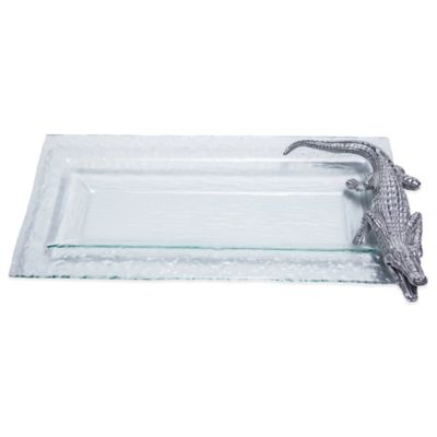 Arthur Court Designs Alligator Glass Oblong Tray