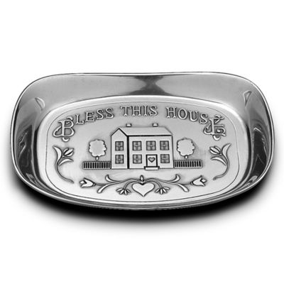 "Wilton Armetale® ""Bless This House"" Bread Tray"