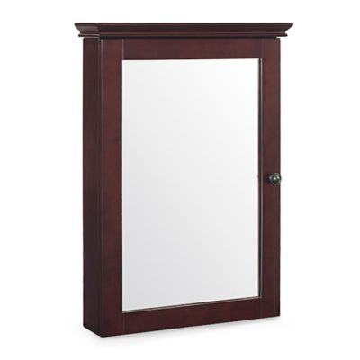 Crosley Lydia Mirrored Wall Cabinet in Espresso