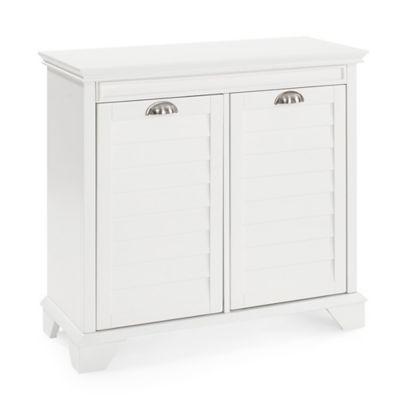 Crosley Lydia Linen Hamper in White