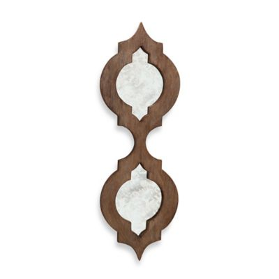 Quadrafoil Wood Wall Mirror