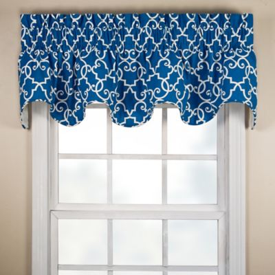 Woburn Scalloped Valance in Black