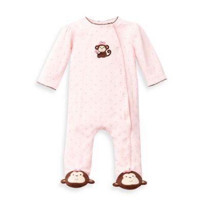 Little Me® Size 3M Pretty Monkey Footie