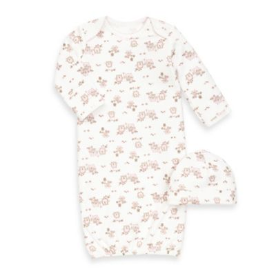 Little Me® 2-Piece Newborn Gown and Hat Set in Sweet Owls