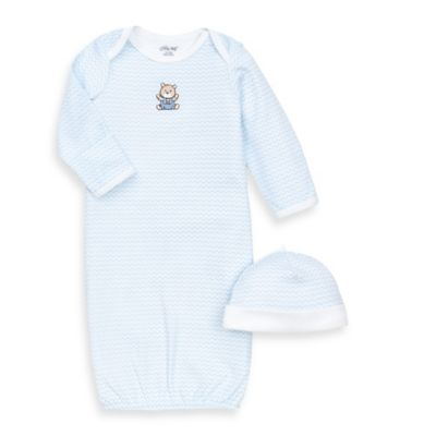 Little Me® Chevron Bear 2-Piece Newborn Gown and Hat Set