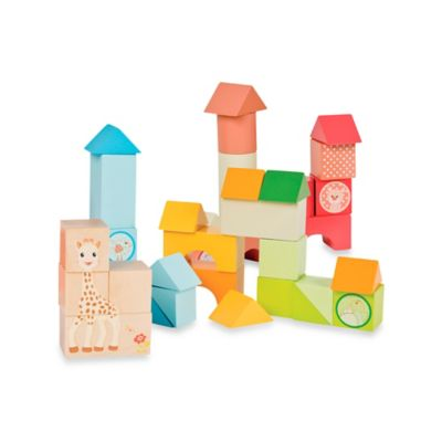 Vulli® Sophie la girafe 36-Piece Wooden Block Set