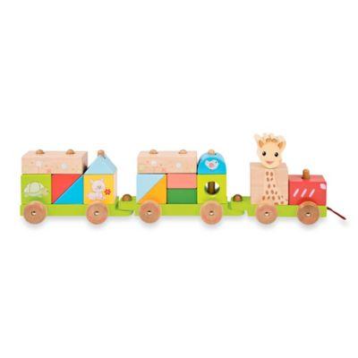 Vulli® Sophie la giraffe® Wooden Train Toy