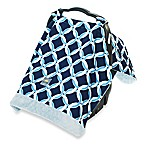 Itzy Ritzy® Cozy Happens™ Infant Car Seat Canopy and Tummy Time Mat in Social Circle Blue