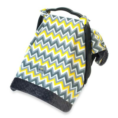 Itzy Ritzy® Cozy Happens™ Infant Car Seat Canopy and Tummy Time Mat in Sunrise Chevron