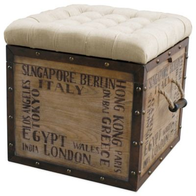 Natural Storage Ottoman