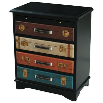 Pulaski Colorful Vintage Suitcase 4-Drawer Accent Chest