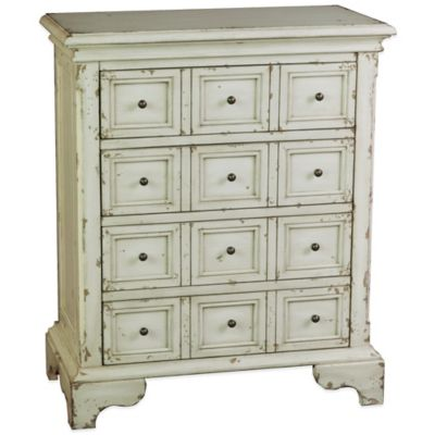 Pulaski Arthur 4-Drawer Apothecary Accent Chest in Rustic White