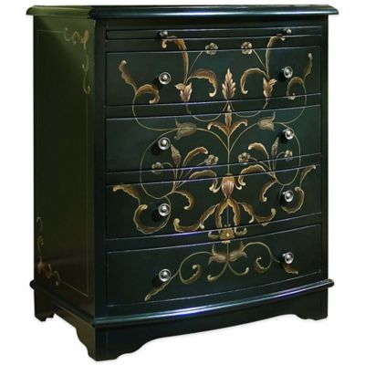 Pulaski Eden Hand-Painted 4-Drawer Accent Chest with Shelf