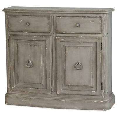 Pulaski Castello 2-Drawer Accent Chest with Cabinet Doors in Blue/Grey