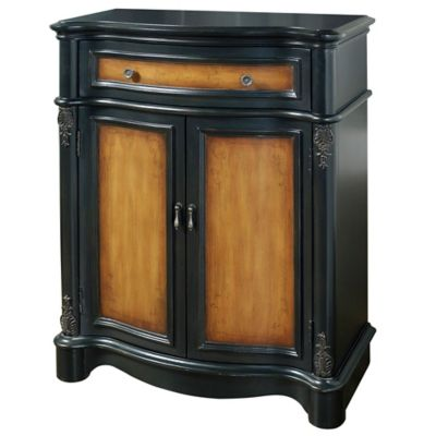 Pulaski Manchester Two-Tone Country Accent Chest in Black/Brown