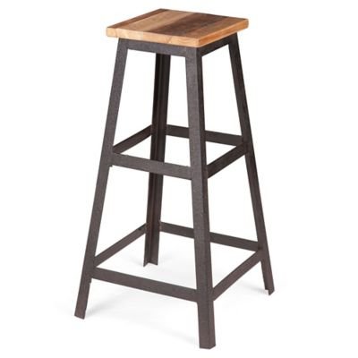 Zuo® Cora Barstool in Distressed Natural