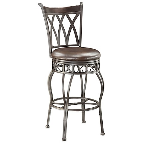Pulaski Bel Air Convertible Metal Bar Stool In Brown Bed