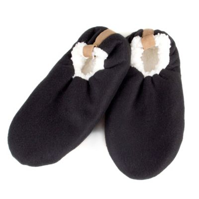 Men's Size Medium/Large Sherpa Slippers in Black