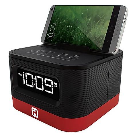 ihome space saver fm stereo alarm clock radio bed bath beyond. Black Bedroom Furniture Sets. Home Design Ideas