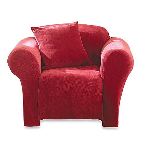 Sure Fit® Stretch Sterling Chair Slipcover in Garnet