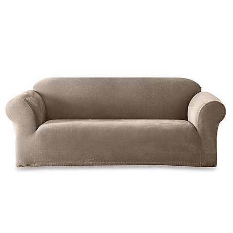 Sure Fit® Stretch Sterling Sofa Slipcover in Taupe