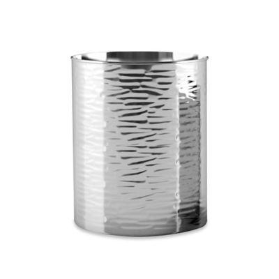 Metropolitan Textured Metal Wastebasket