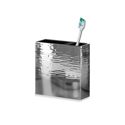 Metropolitan Textured Metal Toothbrush Holder