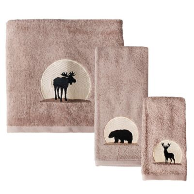 Silhouette Wildlife Fingertip Towel