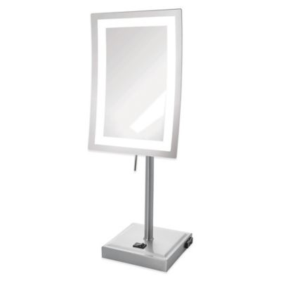 Rectangular 5x LED Lighted Makeup Mirror
