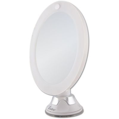 Lighted 10x Wall Mirror