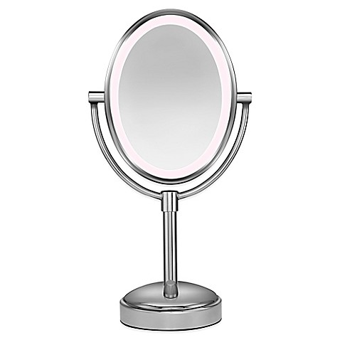 Buy Conair 174 Oval Led 1x 10x Mirror From Bed Bath Amp Beyond
