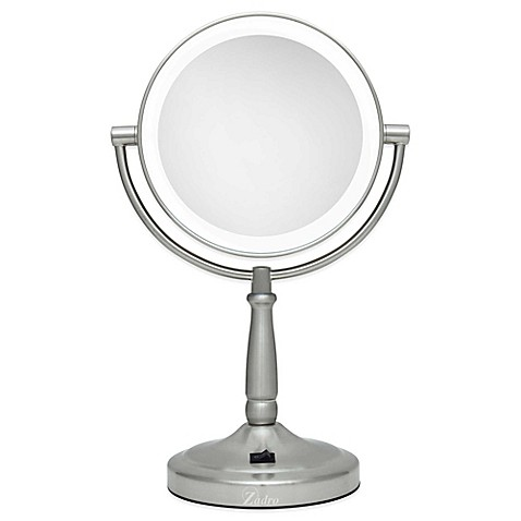 buy zadro 10x 1x cordless led lighted vanity mirror from bed bath. Black Bedroom Furniture Sets. Home Design Ideas