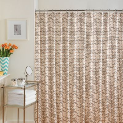 Taupe Colored Shower Curtains
