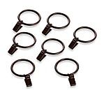 Gramercy Oil Rubbed Bronze 1 1/2-Inch Clip Rings (Set of 7)