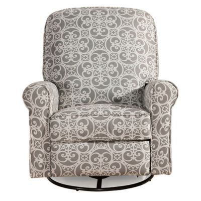 Pulaski Glider Recliner Comfort Chair in Doodles Ash