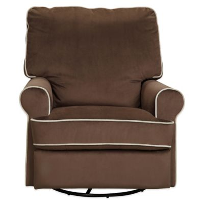 Pulaski Comfort Chair in Stella Doe with Coffee Piping