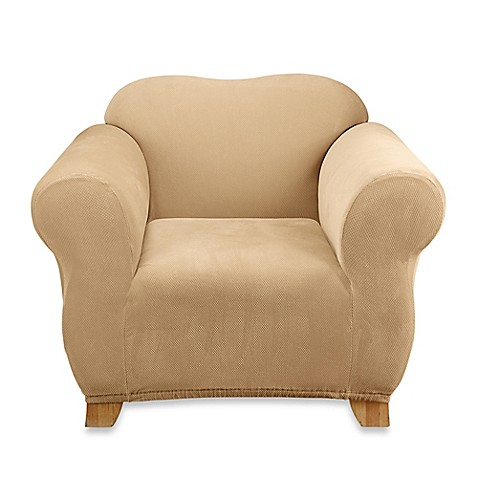 Sure Fit® Stretch Sterling Chair Slipcover in Cream