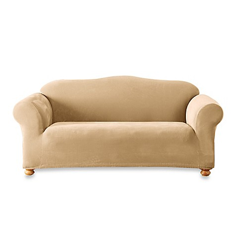 Sure Fit® Stretch Sterling Sofa Slipcover in Cream